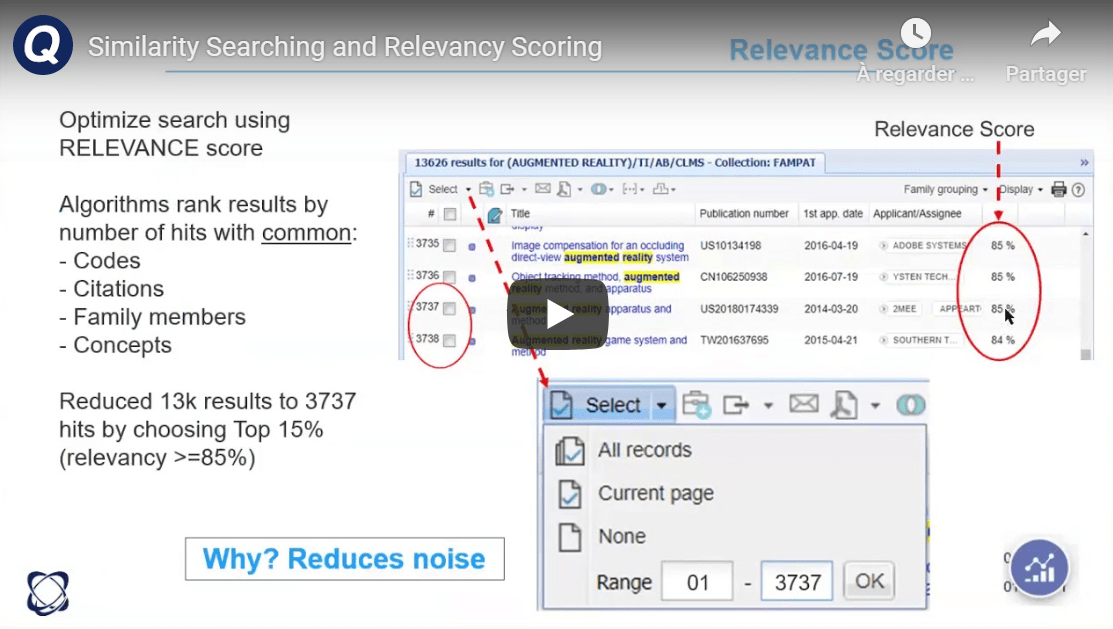 similarity searching and relevancy scoring video